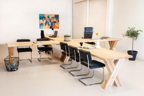 ≥ bureau kantoor meubels tafel massief dik hout tip kantoor