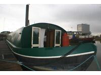 60x10 feet Wide beam canal boat built 2010