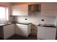 Beautiful good quality kitchen units and worktops , only two years old