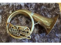Beautiful Amati 4v BBb Helicon (helikon / tuba / sousaphone) with gig bag