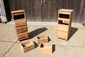 Pair of Tallboy Chest of Drawers handmade unfinished