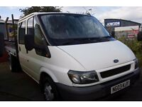 FORD TRANSIT 125 T-350 LWB DOUBLE CAB, 6 SEAT TIPPER– 03-REG