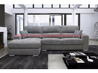 'Clifton' Designer Fabric Corner Sofa | Handcrafted | Luxurious | Quick Delivery.