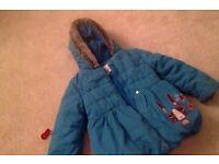 Lovely Marks & Spencer's girl's winter coat - size 3-4