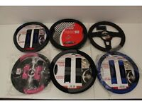 Job Lot of Steering Wheel Covers - 8 Covers with Different Designs