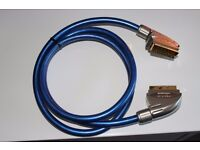 Gold plated scart cable - 1.5m - heavy duty