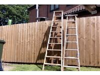 2 A Frame Wooden Step Ladders - Collection Arnold, Nottingham.