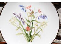 Large Vintage Hand Painted Decorative Plate Summer Flower Joan M Richardson 1985 Display Cabinet Art