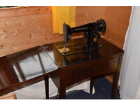 Classic Singer 201 sewing machine (with table) from 1953