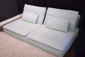 "Sofa design Ikea SÖDERHAMN, very clean. 3 seat section +""chaise longue"" section"