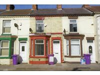 63 Sedley St, Anfield. 2 bedroom terraced with GCH&DG, fitted kitchen, downstairs bathroom DSS wel.