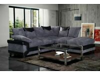 BRAND NEW FURNITURE- DINO JUMBO CORD FABRIC CORNER SOFA SUITE / 3 & 2 SEATER