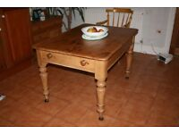 Antique Solid Pine Kitchen Table