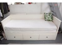 IKEA Day-bed w 3 drawers/2 mattresses HEMNES