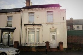 12 Dacy Rd, Anfield, Liverpool. 3 bed end terraced house with GCH & DG. LHA welcome.