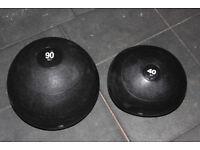 Strength shop 90kg and 40kg slam balls