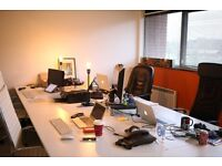 4 desks available now for £260.00 per desk per month