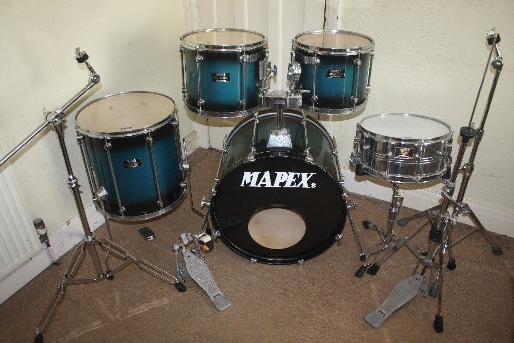 Mapex Mars Pro Blue To Black Burst Lacquer 5 Piece Full