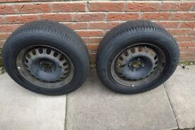 2 x 185 70 14 Goodyear Eagle GT3 Tyres 3+mm currently on Vauxhall Corsa (D) Rims 2008 In good order