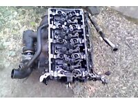 FORD TRANSIT CYLINDER HEAD WITH TURBO 2.4 LITRE DIESEL 2004 ENGINE FOR SALE