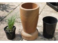 Chimney pot for use as flower pot