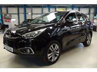 Hyundai ix35 CRDI PREMIUM [1 OWNER / NAV / LEATHER / 4WD ] (deep black) 2014