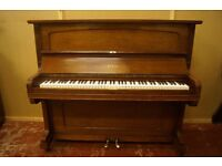 Mahogany upright piano by Steck - Delivery available and tuned