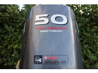 *SOLD* 2012 Yamaha 50hp EFI High thrust four stroke Long shaft Outboard + remotes + gauges.*SOLD*