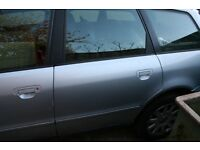 Audi A4 Avant B5 Passengers Left Hand Rear Door NSR 1999 LY7M Silver