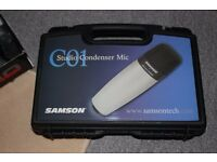 Samson C01 Microphone, Boxed New, Cradle and a Stand