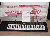 CASIO670 CONCERTMATE KEYBOARD INSTRUCTION/BOX/HOLDER/POWER ADAPTER