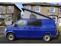 VW Transporter T5 1.9TDI 4 berth, pop top camper van - full professional conversion