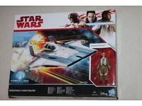 Star Wars The Last Jedi RESISTANCE A-WING FIGHTER vehicle+ Pilot Tallie 3.75-inch Figure Hasbro 2017