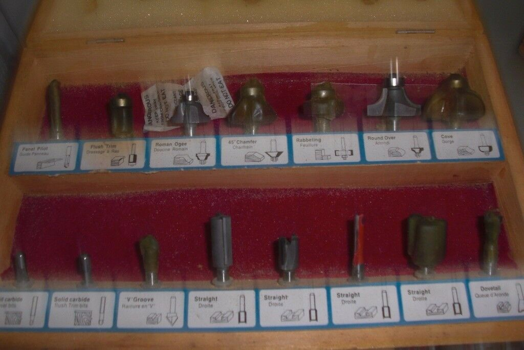 Box of Router Bits