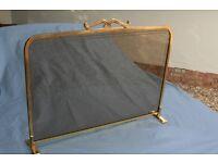 Fire Screen/ Fireguard. Smoked Glass