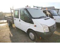 FORD TRANSIT 100 T-350 LWB DOUBLE CAB TIPPER - 13-REG