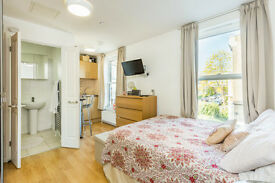 A GOOD SIZE STUDIO FLAT/KITCHENETTE/SHOWER ROOM/FURNISHED/EPC RATING C 77/AVAILABLE MID JUNE