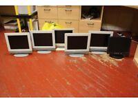 6 Generic Flat Screen Display monitors.