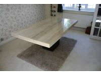 Cream Marble Dining Room Table