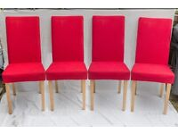 For Sale - 4 Habitat Venice Red Dining Chairs