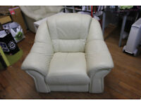 2 SINGLE LEATHER SOFA / ARM CHAIRS FOR QUICK SALE.