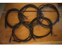 5 x 3m Planet Waves ADAT cables