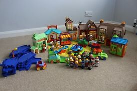 Happy Land ELC Miniature World play set with fire station, house and pets corner and lots more