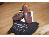 SIZE 9 BROWN LEATHER LOAFERS