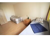 Nice twin room in Mornington Crescent 5 minutes away from the station, 10 mins from warren St. (60D)