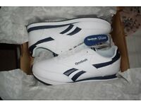 Reebok Royal Classic Jogger Mens Trainers Size 9 white navy stripe running shoes gym