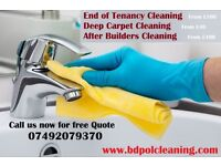short Notice End of Tenancy Cleaning / Deep Carpet Cleaning / After builders Cleaning