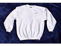 "Vintage Reebok Boys, Girls, Men's or Ladies White Jumper / Sweater Top 43"""