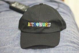 New Travis Scott Travi   cott Astroworld Black Hat Tour Merch Cap Strapback  Dad I f63b6862169
