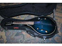 Epiphone MM20 Teal Blue mandolin with hardcase